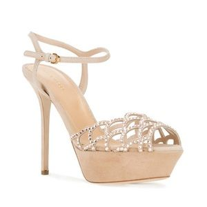SERGIO ROSSI Vague Strappy Scalloped Stilettos